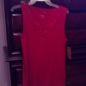 NEW red tank top with lace